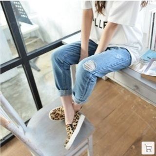 ☆新品☆デニム  ダメージ ジーンズ 韓国ファッション
