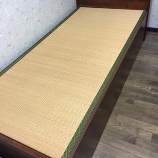 畳シングルベッド 収納付き