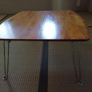 脚折りたたみローテーブル