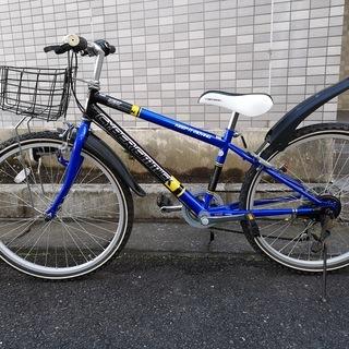 自転車 子供用 サイバーギミック 6段変速 24インチ マウンテ...