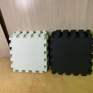 NSO51 ジョイントマット 32cm 10ミリ 黒白 2色セット