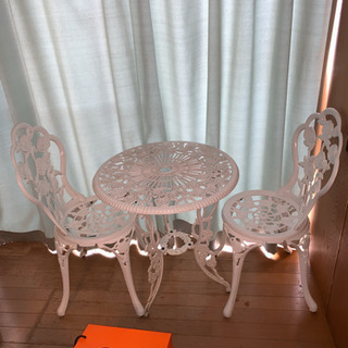 海外製ガーデンテーブルセット美品