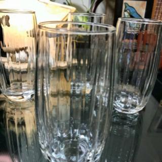 アメリカで買ってきた大きめガラスコップ4個組新品