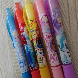 新品未使用 大人気 映画 アナと雪の女王2 カラーボールペン5本セット
