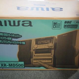 aiwa アイワ CD/MDステレオシステム コンポ 新品未使用...