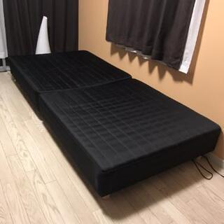 【配送組立サービス】二分割脚付マットレス シングルベッド