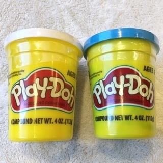 【新品】Play-Dohこむぎねんど 白&青2個セット