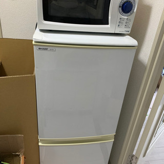 冷蔵庫、電子レンジ、洗濯機、ダイニングテーブル8000円