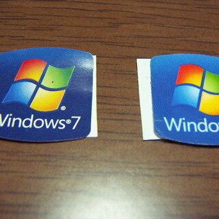 Windows7 ロゴシール2枚 エンブレムシール パソコン用 ...