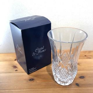 【未使用品】クリスタル・ド・フランス クリスタルガラス花瓶