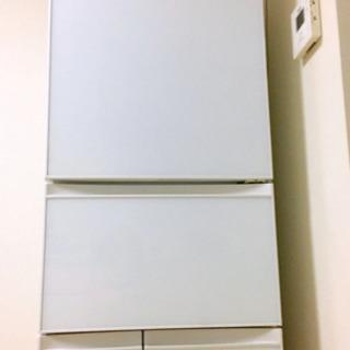 【3年目美品】冷蔵庫 5ドア冷蔵庫 (410L)ガラス扉 クリア...