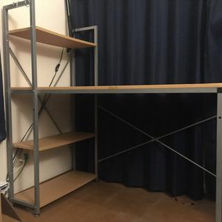 本棚付き机