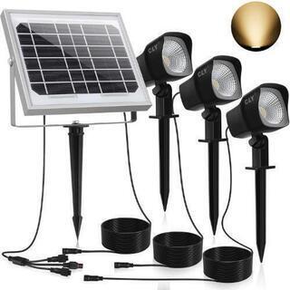 『新品未使用』スポットライト LED ガーデンライト ソーラーラ...