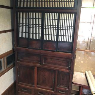 アンティーク 古民家 レトロ 収納棚 食器棚 茶箪笥