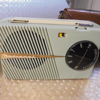 NATIONAL昭和レトロ電池管真空管ラジオ携帯 CB-295 ...