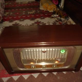 シャープレトロ真空管ラジオ7球(マジックアイ)RS-350