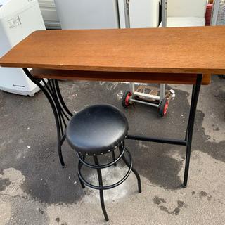 カウンターテーブル スツール バーカウンターチェアセット アイアン