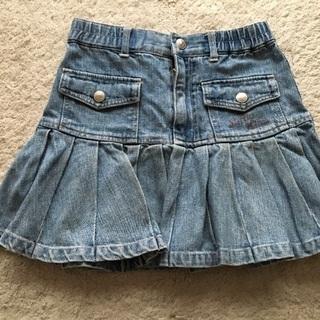 合わせやすいデニムのプリーツスカート サイズ120㎝