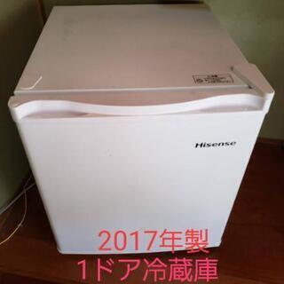 ☆2017年式☆美品☆1ドア冷蔵庫☆4000円☆