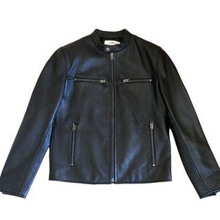COACH 牛革 ライダースジャケット 黒(未使用)絶対にお買い...