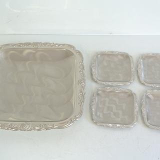 Martian マーシャンの食器プレート 大小5枚セット 銀製 ...