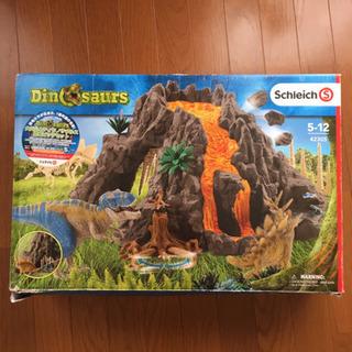 シュライヒ 大火山とティラノサウルス恐竜ビッグセット