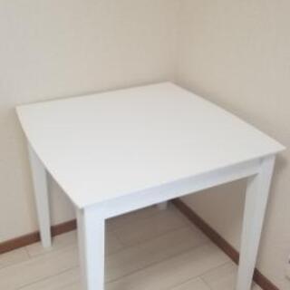 ダイニングテーブル ホワイト 白 75cm