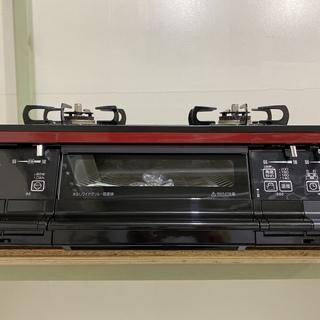 ガステーブル パロマ Paloma IC-66WCR-R 黒×赤...