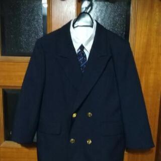 120サイズ 紺ジャケット 白シャツ ネクタイ サスペンダー
