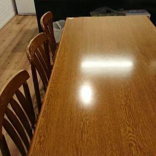 【購入者決定】早い物勝ち!ダイニングテーブルセット♪6人掛け!!机1つ椅子6つ(引っ越しの為) - 奈良市