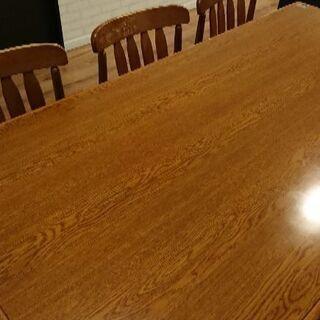 【購入者決定】早い物勝ち!ダイニングテーブルセット♪6人掛け!!机1つ椅子6つ(引っ越しの為) − 奈良県