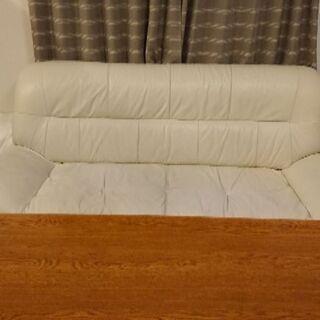 【購入者決定】引っ越し4月8日まで!ホワイトベージュ ソファー  - 家具