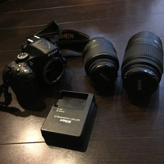 Nikon D5200 一眼レフ ブラック ダブルズームキット