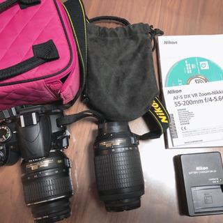 Nikon D3100 ダブルズームキット 別購入ケース付き