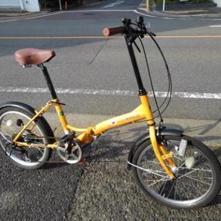 中古自転車798 折り畳み 20インチ 6段ギア ワイヤー錠