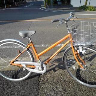 中古自転車799 前後タイヤ交換! 27インチ ギヤなし ダイナ...