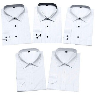 【新品・未使用】ワイシャツ メンズ Lサイズ 5枚セット 形態安...