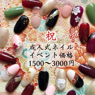 1月11日限定!お祝い価格1500円〜!【成人式ネイル】