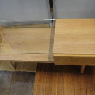 フランフラン  Francfranc ライツ コーヒーテーブル ガルト 大川家具 センターテーブル ガラステーブル 日本製 ローテーブルの画像