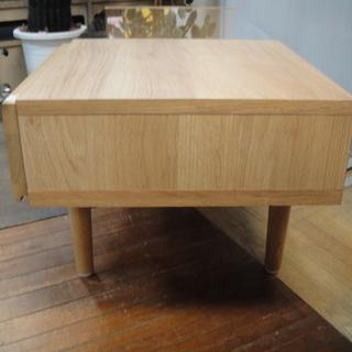フランフラン  Francfranc ライツ コーヒーテーブル ガルト 大川家具 センターテーブル ガラステーブル 日本製 ローテーブル - 売ります・あげます