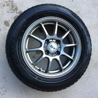 ダンロップ スタッドレスタイヤ 4本セット 14インチ アルミ