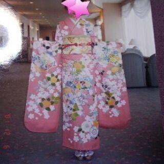 高島屋 高級振り袖 一式 着物 振り袖 帯 草履 バッグ