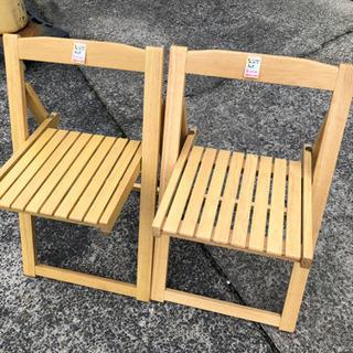 つくりのしっかりとした折り畳み椅子◆チェア1個◆木製