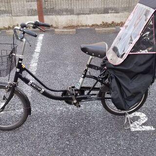自転車 後ろ子乗せセット カバー付き