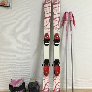 ジュニアスキー4点セット(板130㎝靴24㎝)