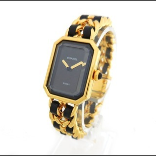 CHANEL シャネル プルミエール Lサイズ 腕時計 ゴールド GP