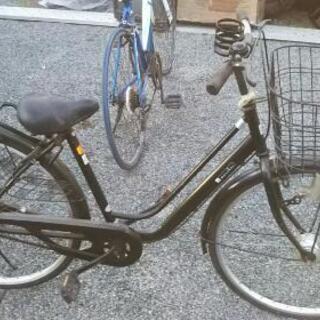 26インチ 自転車 ママチャリ marcher 黒