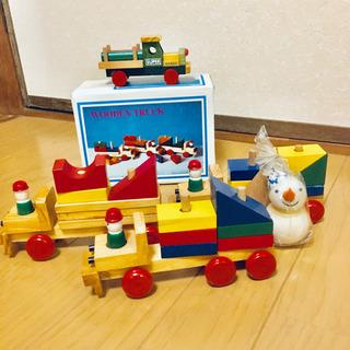 海外製の木のおもちゃ 汽車・列車 インテリア