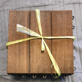 【数量増対応可能】ウッドデッキ天然木タイル 10枚
