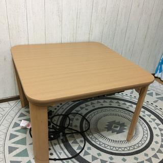 美品! 折りたたみ フラットヒーター こたつ テーブル